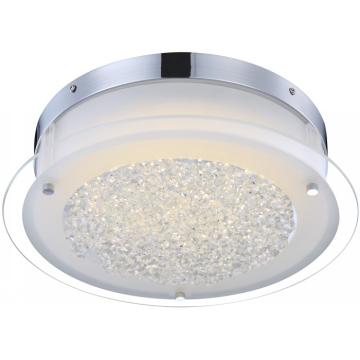 Светильник Globo 49315 Leahкруглые светильники<br>Настенно-потолочные светильники – это универсальные осветительные варианты, которые подходят для вертикального и горизонтального монтажа. В интернет-магазине «Светодом» Вы можете приобрести подобные модели по выгодной стоимости. В нашем каталоге представлены как бюджетные варианты, так и эксклюзивные изделия от производителей, которые уже давно заслужили доверие дизайнеров и простых покупателей.  Настенно-потолочный светильник Globo 49315 станет прекрасным дополнением к основному освещению. Благодаря качественному исполнению и применению современных технологий при производстве эта модель будет радовать Вас своим привлекательным внешним видом долгое время. Приобрести настенно-потолочный светильник Globo 49315 можно, находясь в любой точке России.<br><br>S освещ. до, м2: 7<br>Тип лампы: галогенная / LED-светодиодная<br>Тип цоколя: LED<br>Цвет арматуры: серебристый<br>Количество ламп: 1<br>Ширина, мм: 360<br>Длина, мм: 360<br>Высота, мм: 103<br>MAX мощность ламп, Вт: 18
