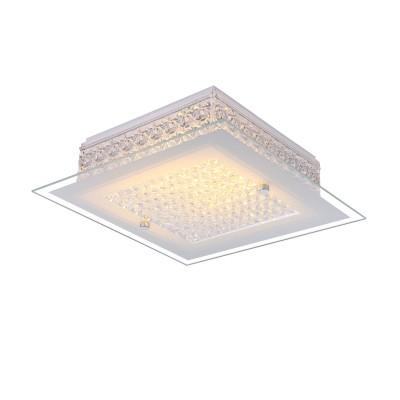 Светильник Globo 49349хрустальные потолочные люстры<br>Компания «Светодом» предлагает широкий ассортимент люстр от известных производителей. Представленные в нашем каталоге товары выполнены из современных материалов и обладают отличным качеством. Благодаря широкому ассортименту Вы сможете найти у нас люстру под любой интерьер. Мы предлагаем как классические варианты, так и современные модели, отличающиеся лаконичностью и простотой форм.   Стильная люстра Globo 49349 станет украшением любого дома. Эта модель от известного производителя не оставит равнодушным ценителей красивых и оригинальных предметов интерьера. Люстра Globo 49349 обеспечит равномерное распределение света по всей комнате. При выборе обратите внимание на характеристики, позволяющие приобрести наиболее подходящую модель.   Купить понравившуюся люстру по доступной цене Вы можете в интернет-магазине «Светодом».<br><br>Установка на натяжной потолок: Да<br>S освещ. до, м2: 5<br>Крепление: Планка<br>Тип лампы: LED<br>Тип цоколя: LED<br>Цвет арматуры: серебристый<br>Количество ламп: 1<br>Диаметр, мм мм: 300<br>Высота, мм: 80<br>MAX мощность ламп, Вт: 12