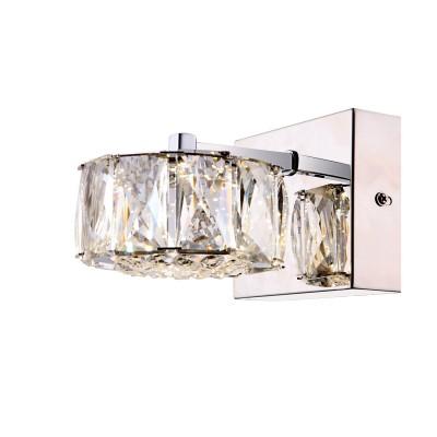 Светильник Globo 49350-1WХрустальные<br><br><br>Тип лампы: LED - светодиодная<br>Тип цоколя: LED<br>Цвет арматуры: серебристый<br>Количество ламп: 1<br>Ширина, мм: 170<br>Длина, мм: 120<br>Высота, мм: 100<br>MAX мощность ламп, Вт: 8
