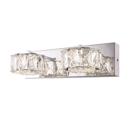 Светильник Globo 49350-2Wхрустальные бра<br><br><br>Тип лампы: LED - светодиодная<br>Тип цоколя: LED<br>Цвет арматуры: серебристый<br>Количество ламп: 2<br>Ширина, мм: 170<br>Длина, мм: 350<br>Высота, мм: 100<br>MAX мощность ламп, Вт: 8