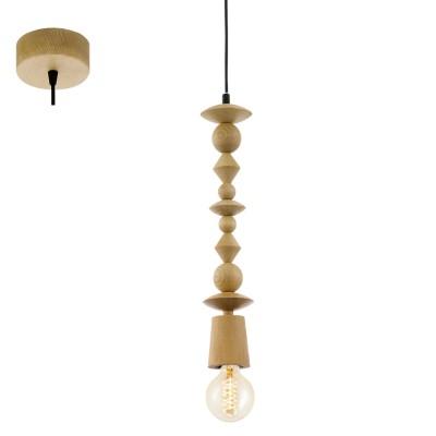 Eglo AVOLTRI 49369 Винтажный светильникОдиночные<br>Подвес AVOLTRI, 1x60W (E27), ?80, дерево, дуб применяется преимущественно в домашнем освещении с использованием стандартных выключателей и переключателей для сетей 220V.<br><br>S освещ. до, м2: 3<br>Тип цоколя: E27<br>Количество ламп: 1<br>MAX мощность ламп, Вт: 60<br>Диаметр, мм мм: 80<br>Высота, мм: 1100<br>Цвет арматуры: деревянный