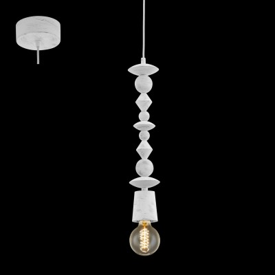 Eglo AVOLTRI 49371 Винтажный светильникОдиночные<br>Подвес AVOLTRI, 1x60W (E27), ?80, дерево, патина, белый применяется преимущественно в домашнем освещении с использованием стандартных выключателей и переключателей для сетей 220V.<br><br>S освещ. до, м2: 3<br>Тип цоколя: E27<br>Количество ламп: 1<br>MAX мощность ламп, Вт: 60<br>Диаметр, мм мм: 80<br>Высота, мм: 1100<br>Цвет арматуры: белый, патина