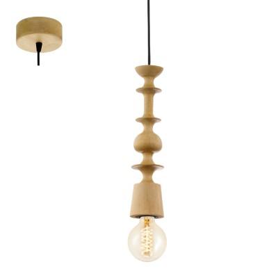 Eglo AVOLTRI 49373 Винтажный светильникОдиночные<br>Подвес AVOLTRI, 1x60W (E27), ?70, дерево, дуб применяется преимущественно в домашнем освещении с использованием стандартных выключателей и переключателей для сетей 220V.<br><br>S освещ. до, м2: 3<br>Тип цоколя: E27<br>Цвет арматуры: деревянный<br>Количество ламп: 1<br>Диаметр, мм мм: 70<br>Высота, мм: 1100<br>MAX мощность ламп, Вт: 60