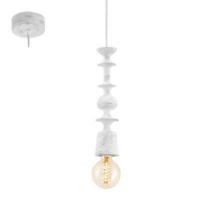 Eglo AVOLTRI 49374 Винтажный светильникОдиночные<br>Подвес AVOLTRI, 1x60W (E27), ?70, дерево, патина, белый применяется преимущественно в домашнем освещении с использованием стандартных выключателей и переключателей для сетей 220V.<br><br>S освещ. до, м2: 3<br>Тип цоколя: E27<br>Цвет арматуры: белый, патина<br>Количество ламп: 1<br>Диаметр, мм мм: 70<br>Высота, мм: 1100<br>MAX мощность ламп, Вт: 60
