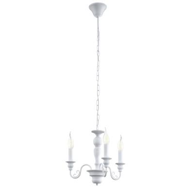 Eglo CAPOSILE 49384 ЛюстраПодвесные<br>Люстра CAPOSILE, 3х40W (E14), ?410, H1100, сталь, белый применяется преимущественно в домашнем освещении с использованием стандартных выключателей и переключателей для сетей 220V.<br><br>Установка на натяжной потолок: Да<br>S освещ. до, м2: 6<br>Тип цоколя: E14<br>Цвет арматуры: белый<br>Количество ламп: 3<br>Диаметр, мм мм: 410<br>Высота, мм: 1100<br>MAX мощность ламп, Вт: 40