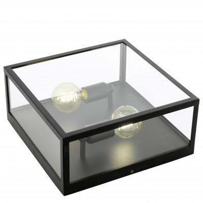 Eglo CHARTERHOUSE 49392 Светильник полочный CHARTERHOUSEКвадратные<br>Настенно-потолочные светильники – это универсальные осветительные варианты, которые подходят для вертикального и горизонтального монтажа. В интернет-магазине «Светодом» Вы можете приобрести подобные модели по выгодной стоимости. В нашем каталоге представлены как бюджетные варианты, так и эксклюзивные изделия от производителей, которые уже давно заслужили доверие дизайнеров и простых покупателей.  Настенно-потолочный светильник Eglo 49392 станет прекрасным дополнением к основному освещению. Благодаря качественному исполнению и применению современных технологий при производстве эта модель будет радовать Вас своим привлекательным внешним видом долгое время. Приобрести настенно-потолочный светильник Eglo 49392 можно, находясь в любой точке России.<br><br>S освещ. до, м2: 6<br>Тип цоколя: E27<br>Цвет арматуры: черный<br>Ширина, мм: 360<br>Размеры основания, мм: 0<br>Длина, мм: 360<br>Высота, мм: 160<br>Оттенок (цвет): прозрачный<br>MAX мощность ламп, Вт: 2<br>Общая мощность, Вт: 2X60W