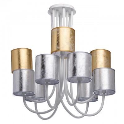 494012309 RegenBogen СветильникПотолочные<br><br><br>Установка на натяжной потолок: Да<br>S освещ. до, м2: 18<br>Тип лампы: Накаливания / энергосбережения / светодиодная<br>Тип цоколя: E14<br>Количество ламп: 9<br>Диаметр, мм мм: 1250<br>Высота, мм: 1180<br>MAX мощность ламп, Вт: 40