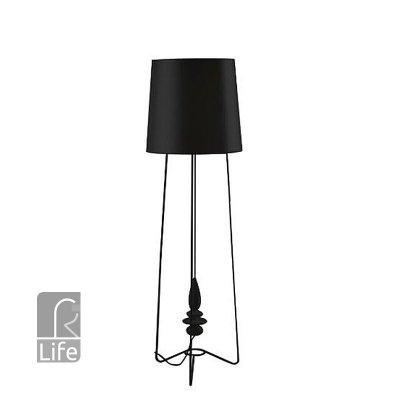 Светильник напольный торшер Regenbogen life 494040501 Райне/RheineМодерн<br><br><br>S освещ. до, м2: 3<br>Тип товара: Тошер напольный<br>Тип лампы: Накаливания / энергосбережения / светодиодная<br>Тип цоколя: E27<br>Количество ламп: 1<br>MAX мощность ламп, Вт: 60<br>Диаметр, мм мм: 470<br>Высота, мм: 1590<br>Цвет арматуры: черный