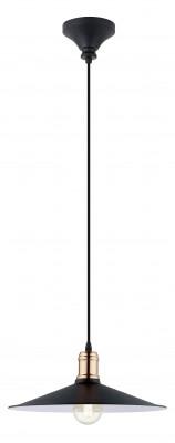 Eglo BRIDPORT 49452 Подвесной светильникПодвесные<br>Компания «Светодом» предлагает широкий ассортимент люстр от известных производителей. Представленные в нашем каталоге товары выполнены из современных материалов и обладают отличным качеством. Благодаря широкому ассортименту Вы сможете найти у нас люстру под любой интерьер. Мы предлагаем как классические варианты, так и современные модели, отличающиеся лаконичностью и простотой форм.  Стильная люстра Eglo 49452 станет украшением любого дома. Эта модель от известного производителя не оставит равнодушным ценителей красивых и оригинальных предметов интерьера. Люстра Eglo 49452 обеспечит равномерное распределение света по всей комнате. При выборе обратите внимание на характеристики, позволяющие приобрести наиболее подходящую модель. Купить понравившуюся люстру по доступной цене Вы можете в интернет-магазине «Светодом».<br><br>Установка на натяжной потолок: Да<br>S освещ. до, м2: 3<br>Крепление: Крюк<br>Тип цоколя: E27<br>Цвет арматуры: черный<br>Количество ламп: 1<br>Диаметр, мм мм: 360<br>Размеры основания, мм: 0<br>Высота, мм: 1100<br>MAX мощность ламп, Вт: 60<br>Общая мощность, Вт: 1X60W