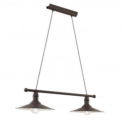 Eglo STOCKBURY 49457 Подвесной светильникПодвесные<br>Компания «Светодом» предлагает широкий ассортимент люстр от известных производителей. Представленные в нашем каталоге товары выполнены из современных материалов и обладают отличным качеством. Благодаря широкому ассортименту Вы сможете найти у нас люстру под любой интерьер. Мы предлагаем как классические варианты, так и современные модели, отличающиеся лаконичностью и простотой форм.  Стильная люстра Eglo 49457 станет украшением любого дома. Эта модель от известного производителя не оставит равнодушным ценителей красивых и оригинальных предметов интерьера. Люстра Eglo 49457 обеспечит равномерное распределение света по всей комнате. При выборе обратите внимание на характеристики, позволяющие приобрести наиболее подходящую модель.  Купить понравившуюся люстру по доступной цене Вы можете в интернет-магазине «Светодом».<br><br>Установка на натяжной потолок: Да<br>S освещ. до, м2: 2<br>Тип лампы: Накаливания / энергосбережения / светодиодная<br>Тип цоколя: E27<br>Количество ламп: 2<br>Ширина, мм: 300<br>MAX мощность ламп, Вт: 60<br>Размеры основания, мм: 0<br>Длина, мм: 800<br>Высота, мм: 1100<br>Цвет арматуры: коричневый<br>Общая мощность, Вт: 2X60W