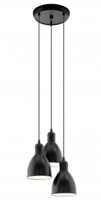 Eglo PRIDDY 49465 Подвесной светильникТройные<br>Подвесной светильник – это универсальный вариант, подходящий для любой комнаты. Сегодня производители предлагают огромный выбор таких моделей по самым разным ценам. В каталоге интернет-магазина «Светодом» мы собрали большое количество интересных и оригинальных светильников по выгодной стоимости. Вы можете приобрести их в Москве, Екатеринбурге и любом другом городе России.  Подвесной светильник Eglo 49465 сразу же привлечет внимание Ваших гостей благодаря стильному исполнению. Благородный дизайн позволит использовать эту модель практически в любом интерьере. Она обеспечит достаточно света и при этом легко монтируется. Чтобы купить подвесной светильник Eglo 49465, воспользуйтесь формой на нашем сайте или позвоните менеджерам интернет-магазина.<br><br>S освещ. до, м2: 9<br>Тип лампы: Накаливания / энергосбережения / светодиодная<br>Тип цоколя: E27<br>Цвет арматуры: черный, белый<br>Количество ламп: 3<br>Диаметр, мм мм: 325<br>Размеры основания, мм: 0<br>Высота, мм: 1100<br>MAX мощность ламп, Вт: 60<br>Общая мощность, Вт: 3X60W