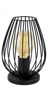 Eglo NEWTOWN 49481 Настольная лампаСовременные<br>Настольная лампа – это не просто источник дополнительного освещения, но и оригинальный элемент декора. Его можно установить в спальне, гостиной, кабинете и других комнатах. Интернет-магазин «Светодом» предлагает настольные лампы разных стилей по доступным ценам. Благодаря большому ассортименту Вы обязательно найдете в нашем каталоге именно ту модель, которую искали.   Настольная лампа Eglo 49481 – прекрасный вариант для завершения интерьера. Ее можно включить одновременно с люстрой для более яркого освещения или без нее для создания уютной атмосферы, настраивающей на отдых.   Купить настольную лампу Eglo 49481 Вы можете с помощью виртуальной «Корзины» или по контактным номерам, указанным на сайте.<br><br>Тип лампы: Накаливания / энергосбережения / светодиодная<br>Тип цоколя: E27<br>MAX мощность ламп, Вт: 2<br>Диаметр, мм мм: 160<br>Размеры основания, мм: 0<br>Высота, мм: 230<br>Цвет арматуры: черный<br>Общая мощность, Вт: 1X60W