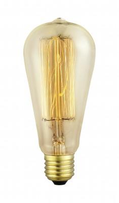 Eglo 49502 Лампа ЭдисонаРетро лампы<br><br><br>Тип товара: Лампа Эдисона<br>Тип лампы: накаливания<br>Тип цоколя: E27<br>MAX мощность ламп, Вт: 2<br>Диаметр, мм мм: 64<br>Размеры основания, мм: 0<br>Длина, мм: 140<br>Общая мощность, Вт: 1X60W