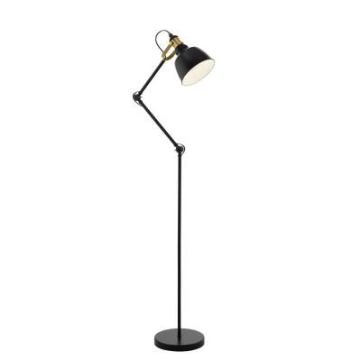 Светильник Eglo 49524современные торшеры<br><br><br>Тип лампы: Накаливания / энергосбережения / светодиодная<br>Тип цоколя: E27<br>Цвет арматуры: черный<br>Количество ламп: 1<br>Ширина, мм: 250<br>Высота полная, мм: 1495<br>Размеры основания, мм: 250<br>Длина, мм: 460<br>Поверхность арматуры: матовая<br>Оттенок (цвет): черный<br>MAX мощность ламп, Вт: 60