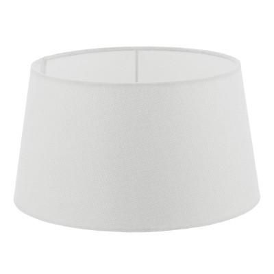 Eglo VINTAGE 49657 АбажурАбажуры<br>Абажур 1+1VINTAGE, 1х60W(E27), ?300, H165, текстиль, лен, белый применяется преимущественно в домашнем освещении с использованием стандартных выключателей и переключателей для сетей 220V.<br><br>Тип цоколя: E27<br>Количество ламп: 1<br>MAX мощность ламп, Вт: 60<br>Диаметр, мм мм: 300<br>Высота, мм: 165