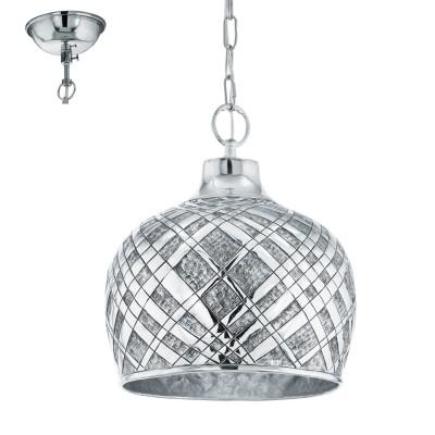 Eglo SALTASH 49675 Подвесной светильникОдиночные<br><br><br>S освещ. до, м2: 3<br>Тип лампы: Накаливания / энергосбережения / светодиодная<br>Тип цоколя: E27<br>Количество ламп: 1<br>MAX мощность ламп, Вт: 60<br>Диаметр, мм мм: 315<br>Высота, мм: 1100