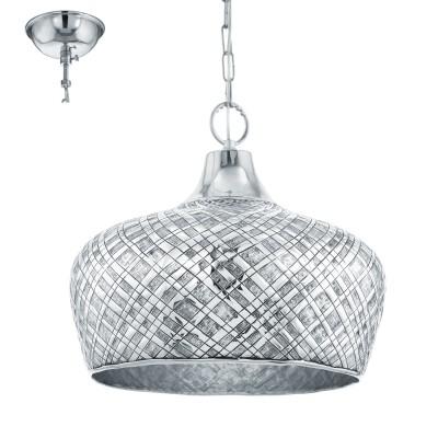 Eglo SALTASH 49676 Подвесной светильникОдиночные<br><br><br>S освещ. до, м2: 3<br>Тип лампы: Накаливания / энергосбережения / светодиодная<br>Тип цоколя: E27<br>Количество ламп: 1<br>MAX мощность ламп, Вт: 60<br>Диаметр, мм мм: 445<br>Высота, мм: 1100