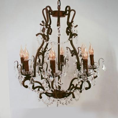 Eglo WEST FENTON 49737 Подвесной светильникПодвесные<br><br><br>S освещ. до, м2: 16<br>Тип лампы: Накаливания / энергосбережения / светодиодная<br>Тип цоколя: E14<br>Количество ламп: 8<br>MAX мощность ламп, Вт: 40<br>Диаметр, мм мм: 630<br>Высота, мм: 1500