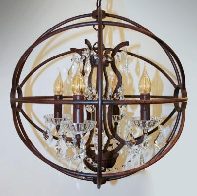 Eglo WEST FENTON 49741 Подвесной светильниклюстры подвесные классические<br><br><br>Установка на натяжной потолок: Да<br>S освещ. до, м2: 10<br>Тип лампы: Накаливания / энергосбережения / светодиодная<br>Тип цоколя: E14<br>Количество ламп: 5<br>Диаметр, мм мм: 500<br>Высота, мм: 1500<br>MAX мощность ламп, Вт: 40