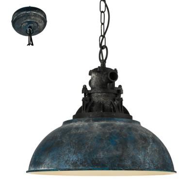 Подвесной светильник Eglo 49753 GRANTHAM 1одиночные подвесные светильники<br>Подвесной светильник Eglo 49753 GRANTHAM 1 отличается регулировкой по высоте и сделает Ваш интерьер современным, стильным и запоминающимся! Наиболее функционально и эстетически привлекательно модель будет смотреться в гостиной, зале, холле или другой комнате. А в комплекте с люстрой, бра или торшером из этой же коллекции сделает ремонт по-дизайнерски профессиональным и законченным.