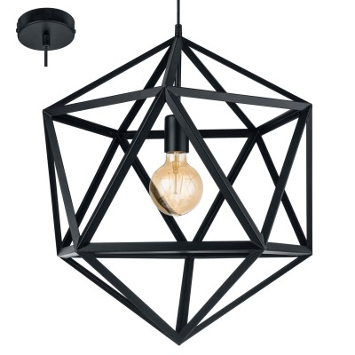 Eglo EMBLETON 49762 Подвесной светильникОдиночные<br><br><br>S освещ. до, м2: 3<br>Тип лампы: Накаливания / энергосбережения / светодиодная<br>Тип цоколя: E27<br>Количество ламп: 1<br>Диаметр, мм мм: 460<br>Высота, мм: 1500<br>MAX мощность ламп, Вт: 60
