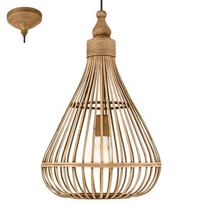 Eglo AMSFIELD 49772 Подвесной светильникОдиночные<br><br><br>S освещ. до, м2: 3<br>Тип лампы: Накаливания / энергосбережения / светодиодная<br>Тип цоколя: E27<br>Количество ламп: 1<br>MAX мощность ламп, Вт: 60<br>Диаметр, мм мм: 350<br>Высота, мм: 1100