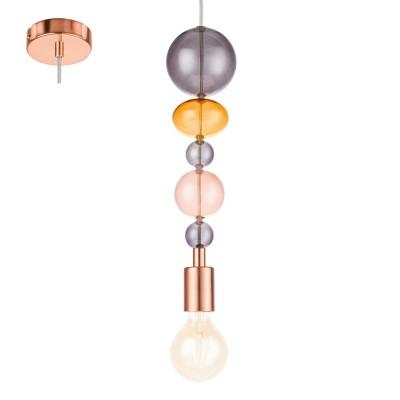 Eglo AVOLTRI 1 49777 Подвесной светильникОдиночные<br><br><br>S освещ. до, м2: 3<br>Тип лампы: Накаливания / энергосбережения / светодиодная<br>Тип цоколя: E27<br>Количество ламп: 1<br>MAX мощность ламп, Вт: 60<br>Диаметр, мм мм: 100<br>Высота, мм: 1100