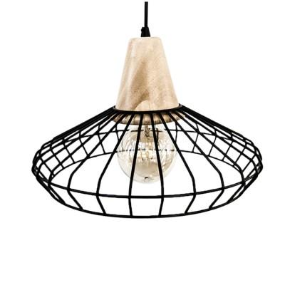 Eglo NORHAM 49779 Подвесной светильникОдиночные<br><br><br>S освещ. до, м2: 3<br>Тип лампы: Накаливания / энергосбережения / светодиодная<br>Тип цоколя: E27<br>Количество ламп: 1<br>MAX мощность ламп, Вт: 60<br>Диаметр, мм мм: 355<br>Высота, мм: 1100