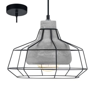Eglo CONSETT 49781 Подвесной светильникОдиночные<br><br><br>S освещ. до, м2: 3<br>Тип лампы: Накаливания / энергосбережения / светодиодная<br>Тип цоколя: E27<br>Количество ламп: 1<br>MAX мощность ламп, Вт: 60<br>Диаметр, мм мм: 295<br>Высота, мм: 1100