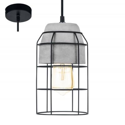 Eglo CONSETT 49783 Подвесной светильникОдиночные<br><br><br>S освещ. до, м2: 3<br>Тип лампы: Накаливания / энергосбережения / светодиодная<br>Тип цоколя: E27<br>Количество ламп: 1<br>Диаметр, мм мм: 140<br>Высота, мм: 1100<br>MAX мощность ламп, Вт: 60