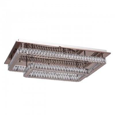 Светильник RegenBogen 498013502хрустальные потолочные люстры<br><br><br>S освещ. до, м2: 48<br>Цветовая t, К: 4000<br>Тип лампы: LED-светодиодная<br>Тип цоколя: LED<br>Цвет арматуры: серебристый<br>Количество ламп: 2<br>Ширина, мм: 500<br>Длина, мм: 850<br>Высота, мм: 200<br>Общая мощность, Вт: 60