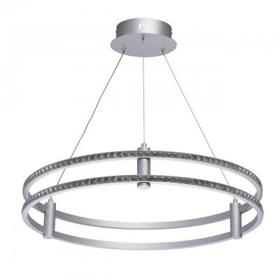 Светильник Regenbogen 498013601Подвесные<br><br><br>S освещ. до, м2: 13<br>Цветовая t, К: 4000/4200<br>Тип лампы: LED-светодиодная<br>Тип цоколя: LED<br>Цвет арматуры: серебристый<br>Количество ламп: 1<br>Диаметр, мм мм: 600<br>Высота, мм: 1700