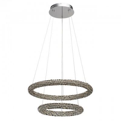 Светильник Chiaro 498014302Подвесные<br><br><br>Тип лампы: LED<br>Цвет арматуры: серебристый<br>Диаметр, мм мм: 650<br>Высота, мм: 1500<br>MAX мощность ламп, Вт: 80