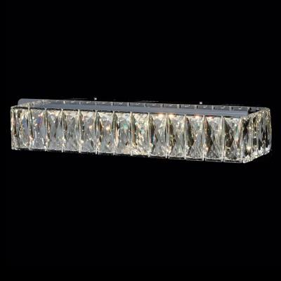 Светильник настенный бра Chiaro 498022701 ГосларХрустальные<br>Описание модели 498022701: Гламурный светильник из коллекции «Гослар» радует глаз своим блеском и необычным оформлением. Он выполнен из хромированного металла в виде планки, инкрустированной крупным высококачественным хрусталем. Такое контрастное сочетание современного стиля исполнения и гламурного, роскошного блеска – главная изюминка светильника.  С его помощью вы сможете создать оригинальное зональное освещение у барной стойки, в кухонной или рабочей зоне.<br><br>S освещ. до, м2: 4<br>Тип товара: Светильник настенный бра<br>Тип лампы: LED - светодиодная<br>Количество ламп: 80<br>Ширина, мм: 120<br>MAX мощность ламп, Вт: 0,1<br>Длина, мм: 470<br>Высота, мм: 90