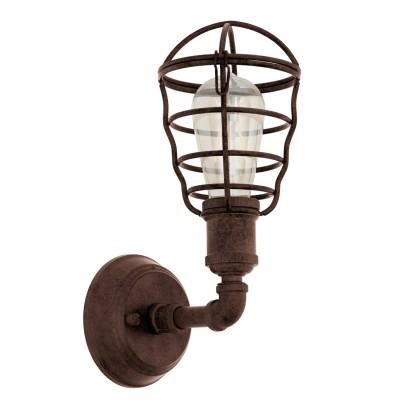 Eglo PORT SETON 49811 Светильник браЛофт<br><br><br>Тип лампы: Накаливания / энергосбережения / светодиодная<br>Тип цоколя: E27<br>Высота, мм: 320<br>MAX мощность ламп, Вт: 60