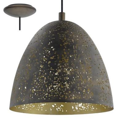 Eglo SAFI 49814 Подвесной светильникподвесные люстры лофт<br>Компания «Светодом» предлагает широкий ассортимент люстр от известных производителей. Представленные в нашем каталоге товары выполнены из современных материалов и обладают отличным качеством. Благодаря широкому ассортименту Вы сможете найти у нас люстру под любой интерьер. Мы предлагаем как классические варианты, так и современные модели, отличающиеся лаконичностью и простотой форм.  Стильная люстра Eglo 49814 станет украшением любого дома. Эта модель от известного производителя не оставит равнодушным ценителей красивых и оригинальных предметов интерьера. Люстра Eglo 49814 обеспечит равномерное распределение света по всей комнате. При выборе обратите внимание на характеристики, позволяющие приобрести наиболее подходящую модель. Купить понравившуюся люстру по доступной цене Вы можете в интернет-магазине «Светодом». Мы предлагаем доставку не только по Москве и Екатеринбурге, но и по всей России.<br><br>Установка на натяжной потолок: Да<br>S освещ. до, м2: 3<br>Тип лампы: Накаливания / энергосбережения / светодиодная<br>Тип цоколя: E27<br>Количество ламп: 1<br>Диаметр, мм мм: 275<br>Высота, мм: 1100<br>MAX мощность ламп, Вт: 60