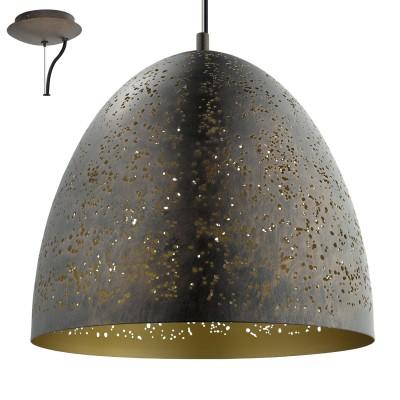 Eglo SAFI 49815 Подвесной светильникОдиночные<br><br><br>S освещ. до, м2: 3<br>Тип лампы: Накаливания / энергосбережения / светодиодная<br>Тип цоколя: E27<br>Количество ламп: 1<br>MAX мощность ламп, Вт: 60<br>Диаметр, мм мм: 405<br>Высота, мм: 2000