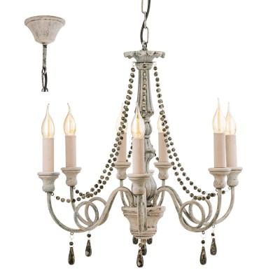 Eglo COLCHESTER 49822 Подвесной светильникПодвесные<br><br><br>Установка на натяжной потолок: Да<br>S освещ. до, м2: 16<br>Тип лампы: Накаливания / энергосбережения / светодиодная<br>Тип цоколя: E14<br>Количество ламп: 8<br>Диаметр, мм мм: 715<br>Высота, мм: 1100<br>MAX мощность ламп, Вт: 40