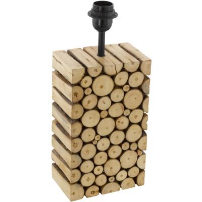 Eglo RIBADEO 49833 Основа для настольной лампынастольные лампы из дерева<br>Основа для настольной лампы RIBADEO,  1x60W (E27), 120х100, H385, дерево, коричневый применяется преимущественно в домашнем освещении с использованием стандартных выключателей и переключателей для сетей 220V.<br><br>Тип цоколя: E27<br>Цвет арматуры: коричневый<br>Количество ламп: 1<br>Ширина, мм: 100<br>Длина, мм: 120<br>Высота, мм: 385<br>MAX мощность ламп, Вт: 60