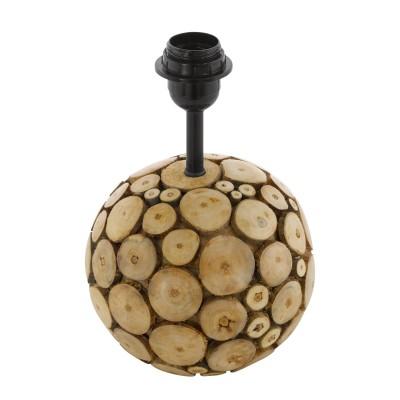 Eglo RIBADEO 49834 Основа для настольной лампыДеревянные<br>Основа для настольной лампы RIBADEO,  1x60W (E27), ?175, H385, дерево, коричневый применяется преимущественно в домашнем освещении с использованием стандартных выключателей и переключателей для сетей 220V.<br><br>Тип цоколя: E27<br>Цвет арматуры: коричневый<br>Количество ламп: 1<br>Диаметр, мм мм: 175<br>Высота, мм: 280<br>MAX мощность ламп, Вт: 60