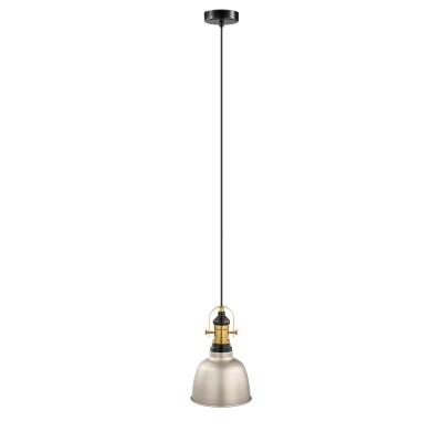 Eglo GILWELL 49841 Подвесной светильникОдиночные<br><br><br>S освещ. до, м2: 3<br>Тип лампы: Накаливания / энергосбережения / светодиодная<br>Тип цоколя: E27<br>Количество ламп: 1<br>MAX мощность ламп, Вт: 60<br>Диаметр, мм мм: 185<br>Высота, мм: 1100