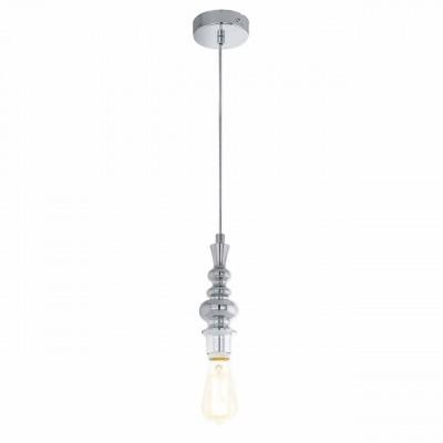 Eglo WELLS 49846 Винтажный светильникОдиночные<br>Подвес WELLS, 1x60W (E27), ?95, H1100, сталь, хром применяется преимущественно в домашнем освещении с использованием стандартных выключателей и переключателей для сетей 220V.<br><br>S освещ. до, м2: 3<br>Тип цоколя: E27<br>Цвет арматуры: серебристый хром<br>Количество ламп: 1<br>Диаметр, мм мм: 95<br>Высота, мм: 1100<br>MAX мощность ламп, Вт: 60
