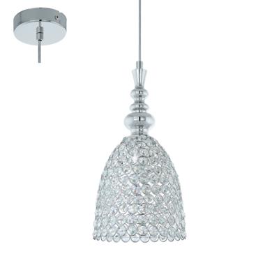 Eglo GILLINGHAM 49847 Винтажный светильникОдиночные<br>Подвес GILLINGHAM, 1x60W (E27), ?195, H1325, сталь, хром/сталь, хрусталь, хром применяется преимущественно в домашнем освещении с использованием стандартных выключателей и переключателей для сетей 220V.<br><br>S освещ. до, м2: 3<br>Тип цоколя: E27<br>Количество ламп: 1<br>MAX мощность ламп, Вт: 60<br>Диаметр, мм мм: 195<br>Высота, мм: 1325<br>Цвет арматуры: серебристый хром