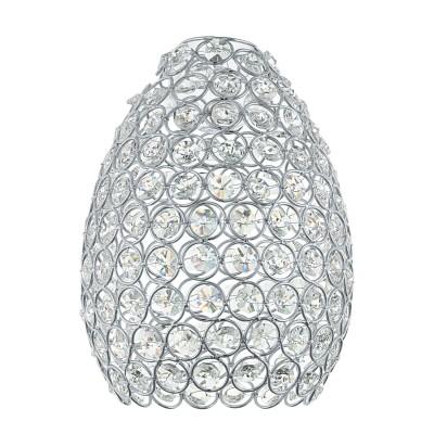 Eglo GILLINGHAM 49848 АбажурАбажуры<br>Абажур GILLINGHAM,  Е14;Е27; ?155, Н205, сталь, кристаллы,  хром, прозрачный применяется преимущественно в домашнем освещении с использованием стандартных выключателей и переключателей для сетей 220V.<br><br>Тип товара: Абажур<br>Тип цоколя: -<br>Диаметр, мм мм: 155<br>Высота, мм: 205