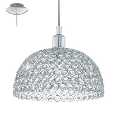 Eglo GILLINGHAM 49849 Винтажный светильникПодвесные<br>Подвес GILLINGHAM, 1x60W (E27), ?285, H1245, сталь, хром/сталь, хрусталь, хром применяется преимущественно в домашнем освещении с использованием стандартных выключателей и переключателей для сетей 220V.<br><br>Установка на натяжной потолок: Да<br>S освещ. до, м2: 3<br>Тип цоколя: E27<br>Цвет арматуры: серебристый<br>Количество ламп: 1<br>Диаметр, мм мм: 285<br>Высота, мм: 1245<br>MAX мощность ламп, Вт: 60