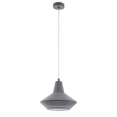 Подвес Eglo 49866 PIONDROодиночные подвесные светильники<br><br><br>Тип лампы: Накаливания / энергосбережения / светодиодная<br>Тип цоколя: E27<br>Цвет арматуры: серый<br>Количество ламп: 1<br>Диаметр, мм мм: 330<br>Высота полная, мм: 1100<br>Поверхность арматуры: матовая<br>Оттенок (цвет): серый<br>MAX мощность ламп, Вт: 60