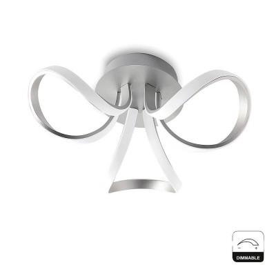 Потолочный светильник Mantra 4994 KNOTлюстры хай тек потолочные<br><br><br>Установка на натяжной потолок: Да<br>S освещ. до, м2: 14<br>Цветовая t, К: 3000<br>Тип лампы: LED<br>Тип цоколя: LED<br>Цвет арматуры: серебристый хром<br>Диаметр, мм мм: 480<br>Высота, мм: 190<br>MAX мощность ламп, Вт: 36