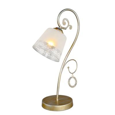 Настольная лампа Классика 5-4285-1-GLYN Е27 МаксисветОжидается<br><br><br>S освещ. до, м2: 3<br>Тип цоколя: E27<br>Цвет арматуры: Золото<br>Ширина, мм: 140<br>Высота полная, мм: 420<br>Длина, мм: 280