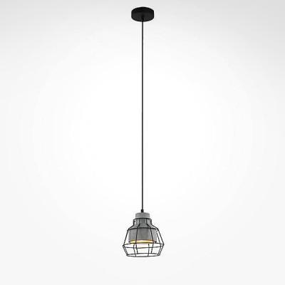 Евросвет 50038/1 серыйОдиночные<br><br><br>S освещ. до, м2: 3<br>Тип лампы: Накаливания / энергосбережения / светодиодная<br>Тип цоколя: E27<br>Количество ламп: 1<br>MAX мощность ламп, Вт: 60<br>Диаметр, мм мм: 180<br>Высота, мм: 300 - 935