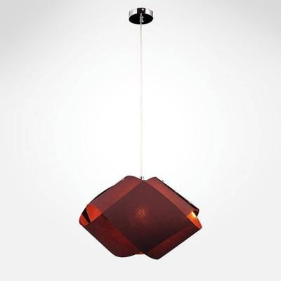 Евросвет 50047/1 коричневыйПодвесные<br><br><br>Установка на натяжной потолок: Да<br>S освещ. до, м2: 2<br>Крепление: Крюк<br>Тип лампы: Накаливания / энергосбережения / светодиодная<br>Тип цоколя: E27<br>Количество ламп: 1<br>MAX мощность ламп, Вт: 40<br>Диаметр, мм мм: 480<br>Высота, мм: 200 - 1260<br>Цвет арматуры: серебристый хром
